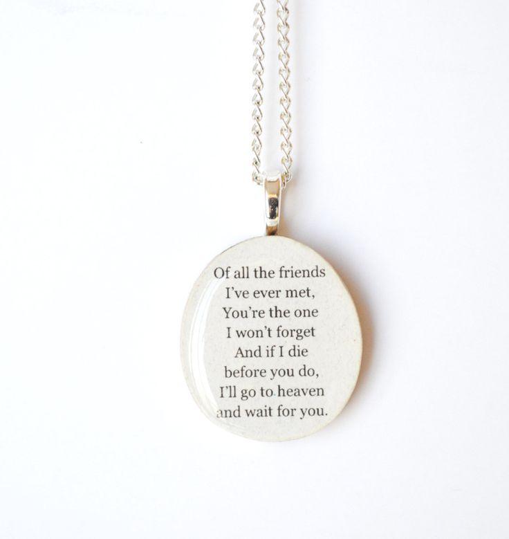 Best friend necklace wood best friend jewelry personalized jewelry eco friendly graduation gift friendship gift, best friends