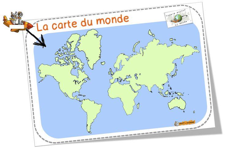 Avions marqueurs et cartes du monde BDG.