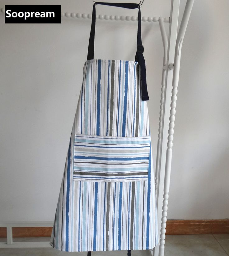 Nordic Mediterranean style women Kitchen Apron striped Print men Cooking Christmas funny party christmas cotton holiday aprons