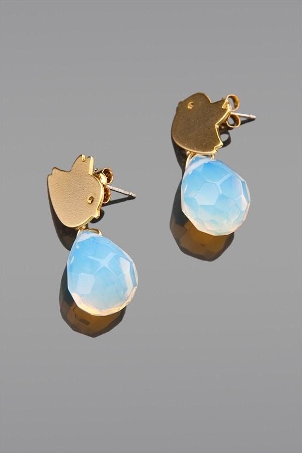 Accessories by Pelin Giydiren Ay Taşlı Kuş Küpe 1013-1 %50 indirimle 32,99 TL Trendyol'da