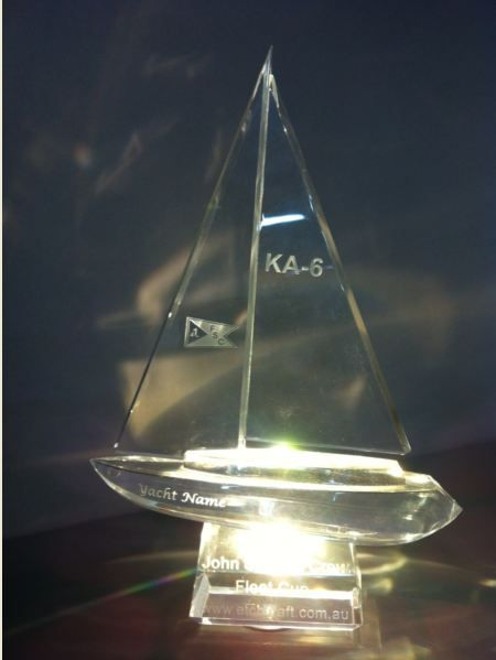 Glass Boat on LED base