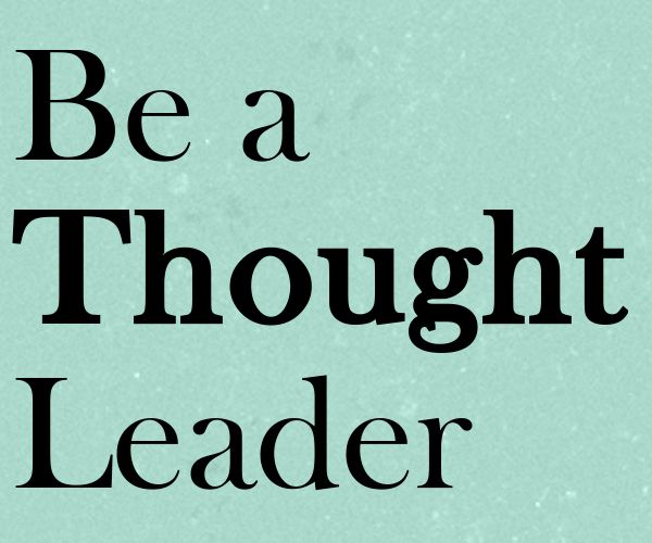 Market the PT Profession = Become a Thought Leader on Social Media