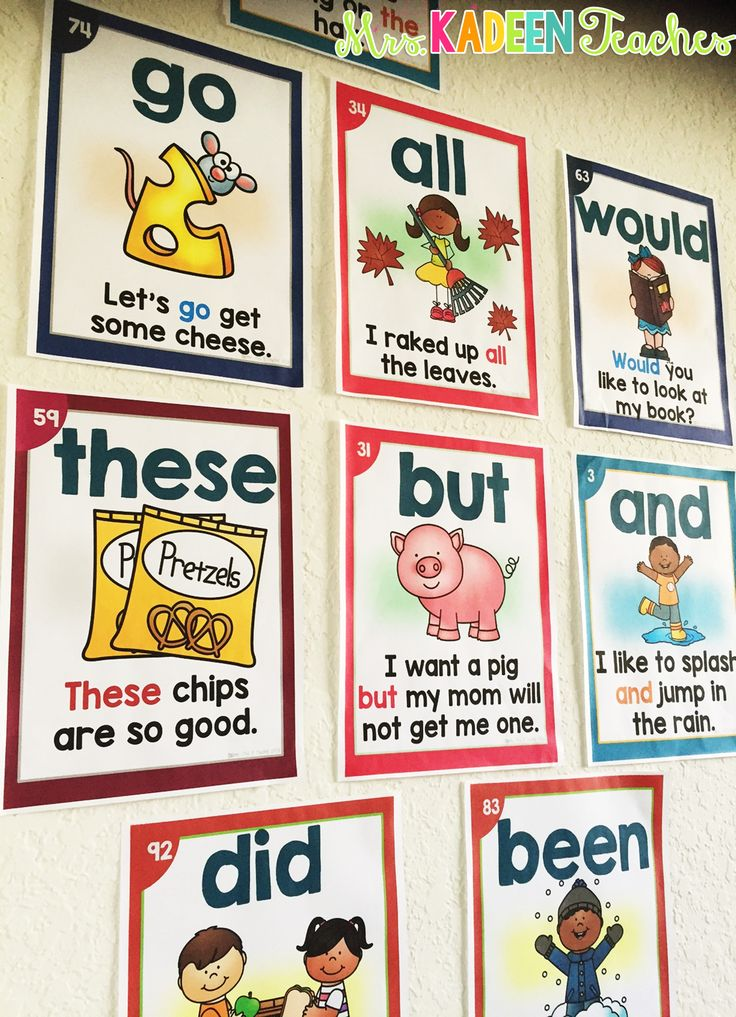 Sight Word Posters. Fun way to reinforce sight words.