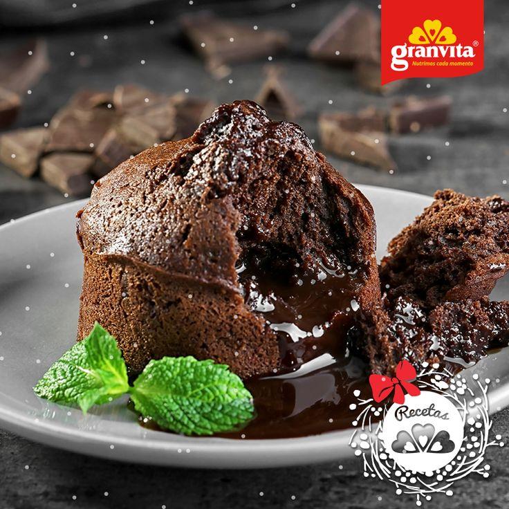 #Receta: Volcán de chocolate light. 🍫 La combinación ganadora para amantes del chocolate.
