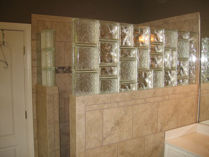 Glass Block Tile Shower Wall Glass Block Pinterest