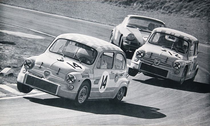 Ab Goedemans and Toine Hezemans racing in S.R.T Holland Abarths