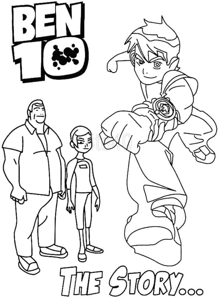 Ben 10 Watch Only Coloring Pages Cartoon Coloring Pages Superhero Coloring Pages Coloring Stickers