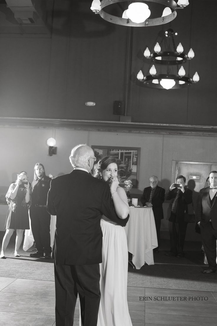 Washington wedding. Father daughter dance at McMenamins Anderson Schoolhouse in Bothell.
