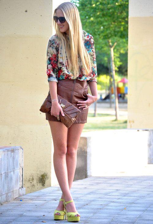 Zeliha's Blog: Love This Leather Zipped Short