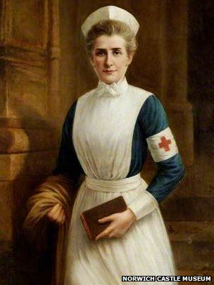 Heroine WWII NURSE Edith Cavell to feature on new £5 coin. Edith Cavell painting by Raymond Lynde
