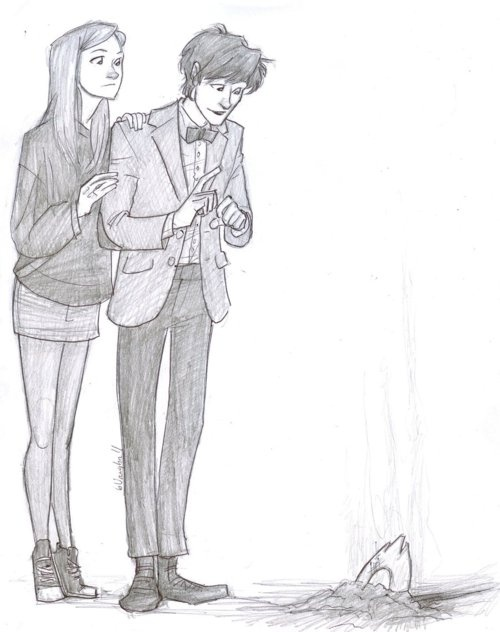 """""""Let's go poke it with a stick""""  The Eleventh Doctor and Amy Pond"""