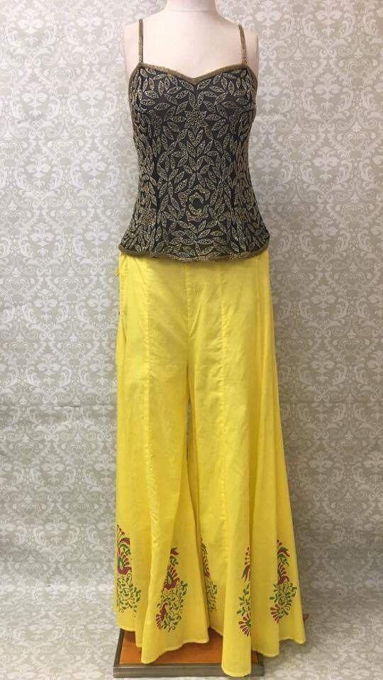 Long Divided Skirt / Pants - Yellow