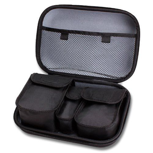Toiletry Travel Bag Organizer Kit with Customizable Storage Pockets & Protective Hard Shell by USA GEAR  Perfect for Carrying Shampoo  Conditioner  Body Wash  Shaving Supplies & More Toiletries!