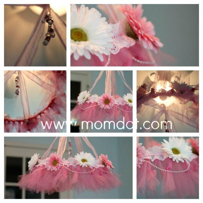 How to make a tutu chandelier - Influential Mom Blogger, Mom Blog Brand Ambassador, PR Friendly