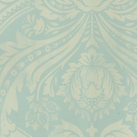 Allen + Roth Teal Damask Strippable Non-Woven Paper Unpasted Wallpaper - Lowes