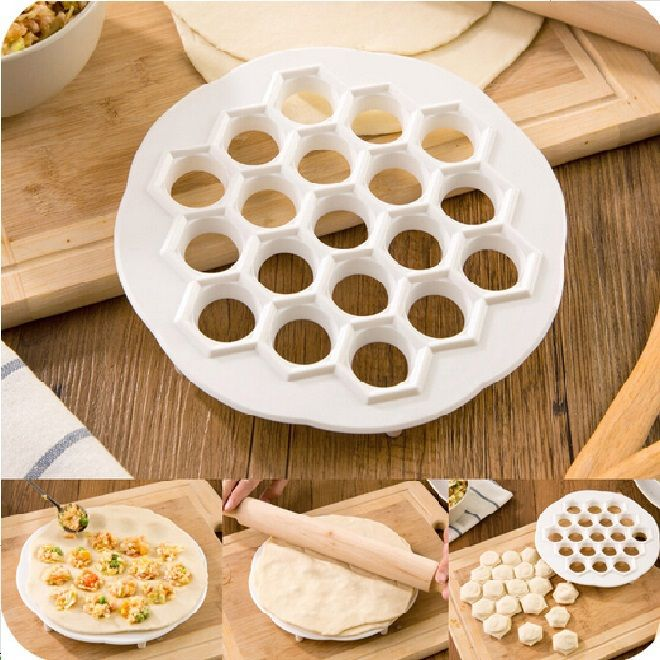 (19pcs dumpling by one time ) Dumpling Tool Jiaozi Maker Device Easy DIY Dumpling Mold Kitchen tools pastry tools ss631 #Affiliate