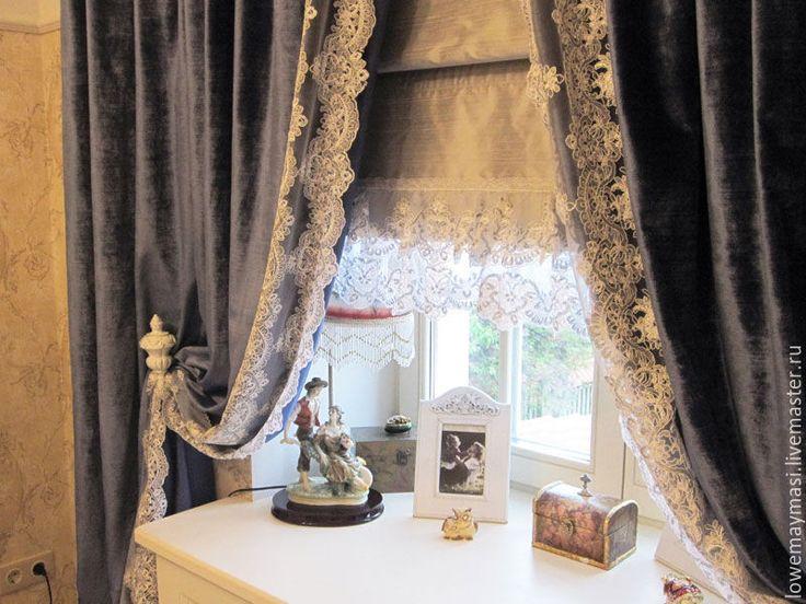 Купить Винтажные шторы из бархата в Викторианском стиле. - бархат, шторы, викторианский стиль, шторы в спальню