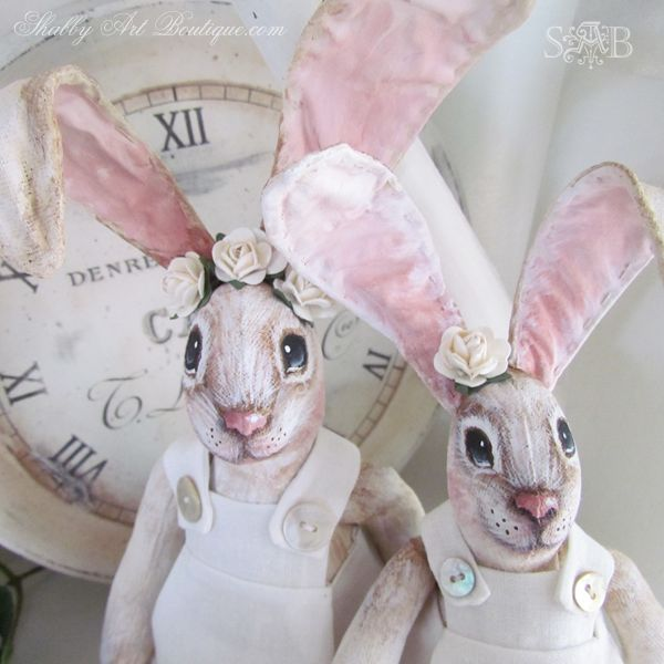 Shabby Art Boutique handmade bunnies 2 - absolutely adorable!