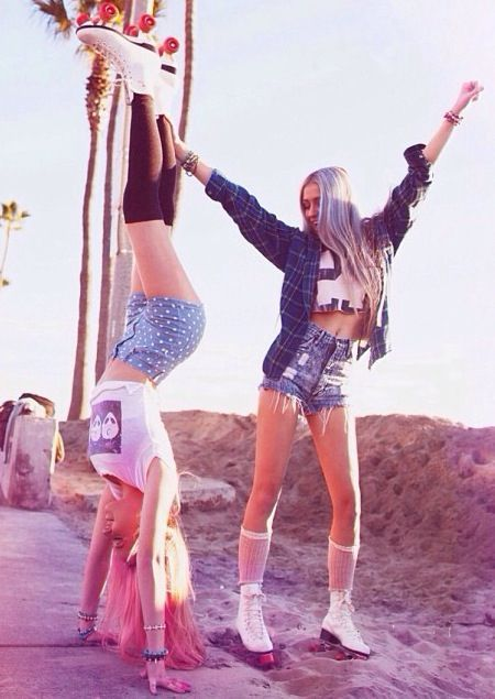 Brandy Melville❤ Both of these outfits are edgy and so cute to wear in summer☀