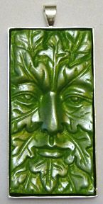 Greenman Green Man pendant polymer clay instruction how-to guide to jewelry making perfect pearls like pearl-ex