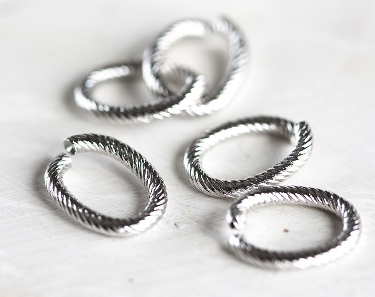 2402_Oval jump rings 10x14 mm, Jewerly connectors, Open twisted jump rings, Strong jump rings Brass jump rings Findings jewelry making_10pcs by PurrrMurrr on Etsy