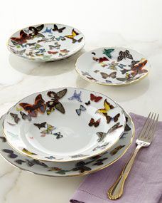 Vista Alegre by Christian Lacroix Butterfly Parade Dinnerware #vistaalegre #butterflyparade #kitchen2table #Tabletop   For wholesale pricing in the southeast US contact: sales@kitchen2table.com
