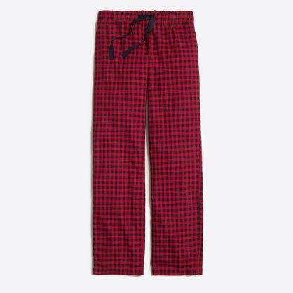 Yarn-dyed flannel pajama pant