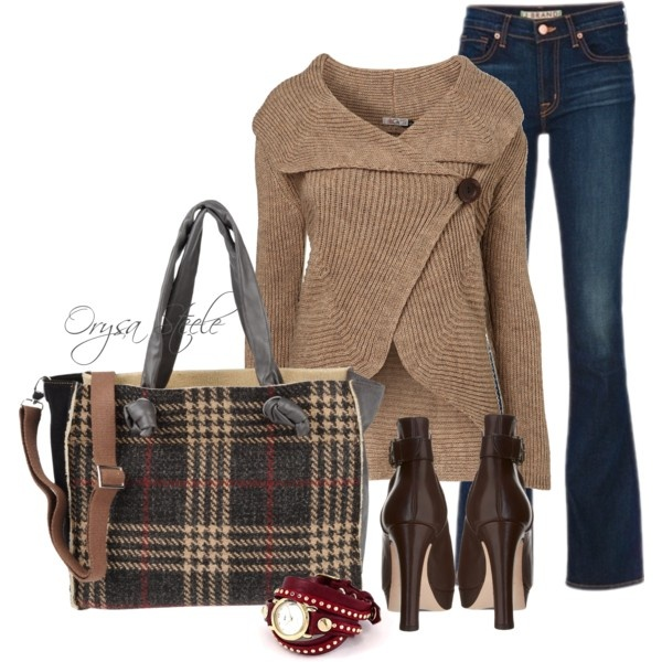 """See You in September"" by orysa on Polyvore: Fall Style, Sweaters Weather, Fall Looks, Fall Outfits, Fall Fashion, Autumn Harvest, Bags, Casual Dressy, While"