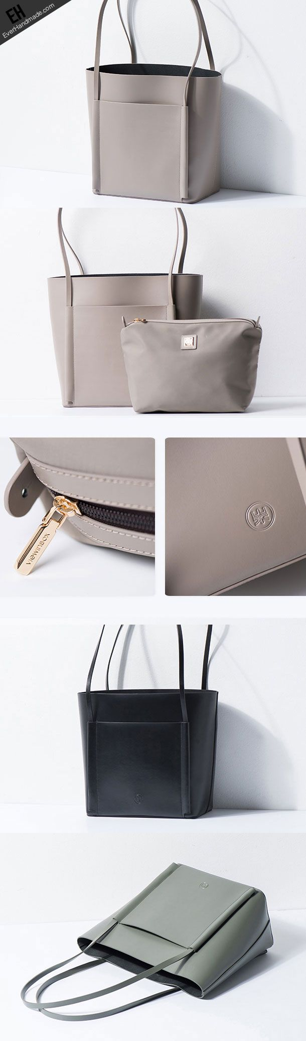 Genuine Leather handbag shoulder bag large tote for women leather shopper bag