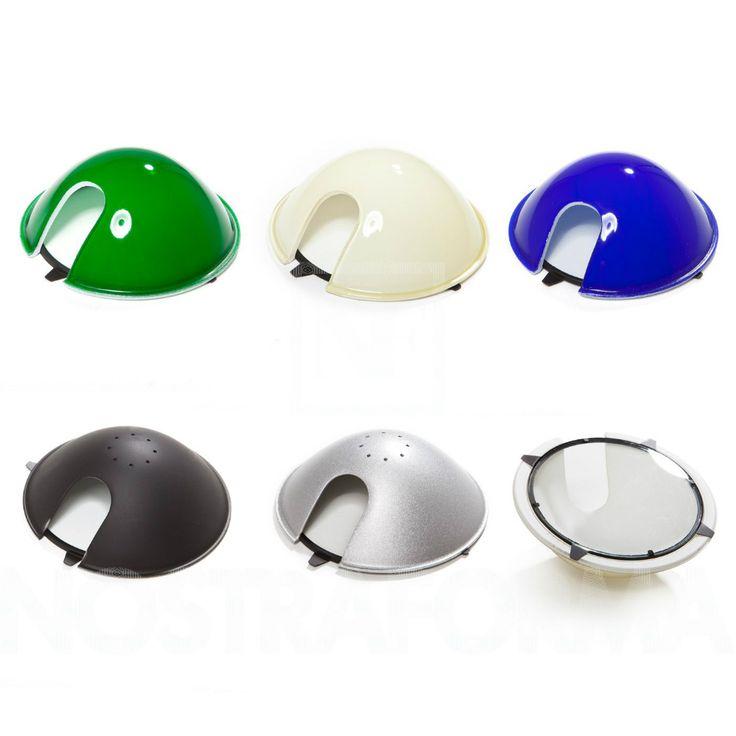 Riflettore o Diffusore in vetro e in metallo in diversi colori per Luceplan Berenice.