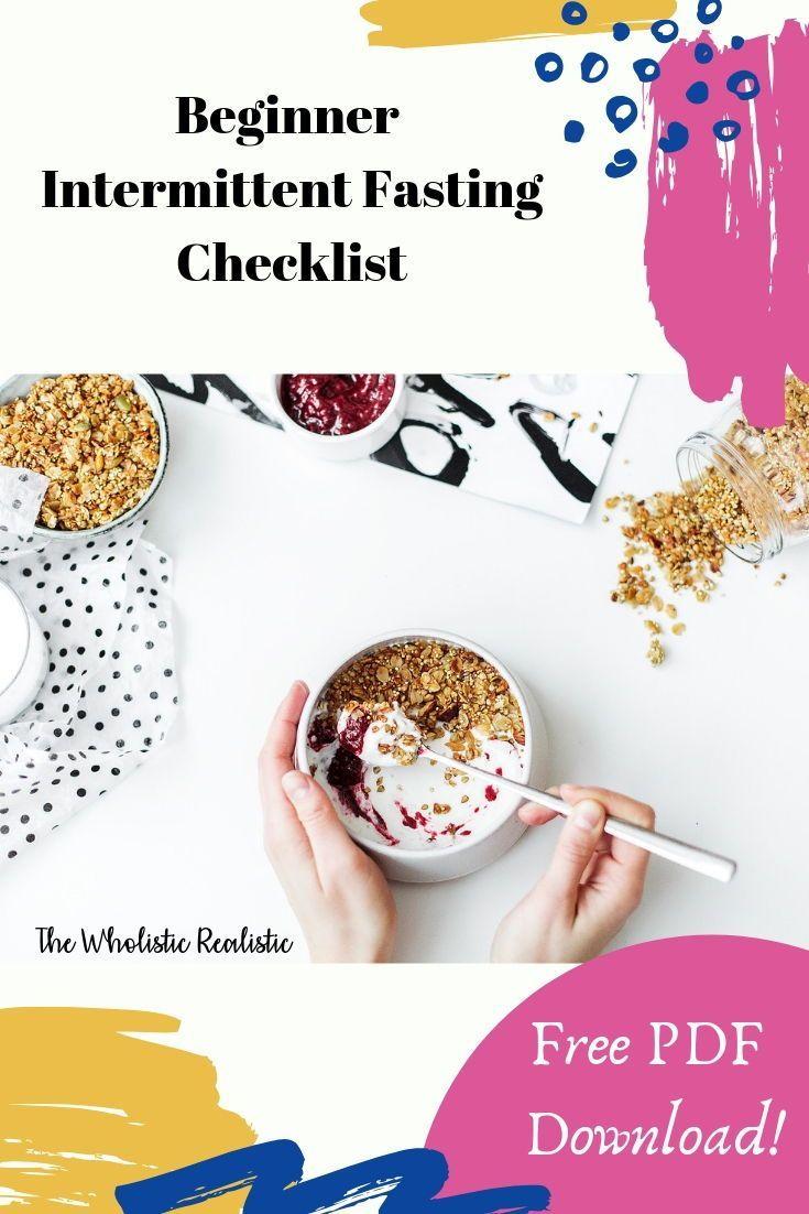 Download my beginner intermittent fasting checklist to ...