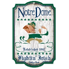 Notre Dame College Vault Wooden Sign