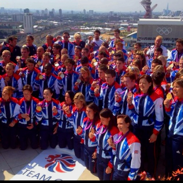 A lot of Gold Team GB I hope there's a picture of all the medal winners at some point.