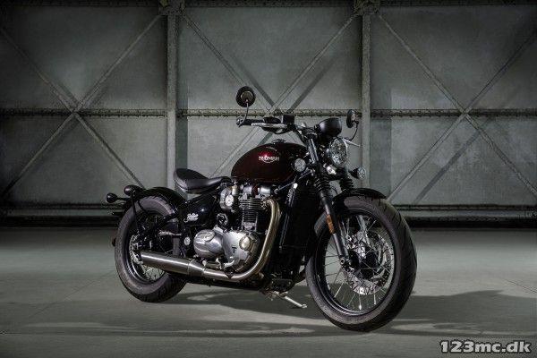 Triumph Bonneville Bobber 2017, ny cruiser/chopper motorcykel til salg - Vagn Jensen Motorcykler - 123mc.dk