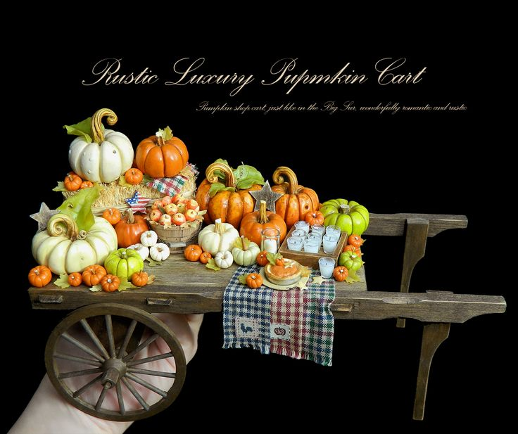 :: Crafty :: Clay ☾☾ Halloween ☾☾ pumpkin cart