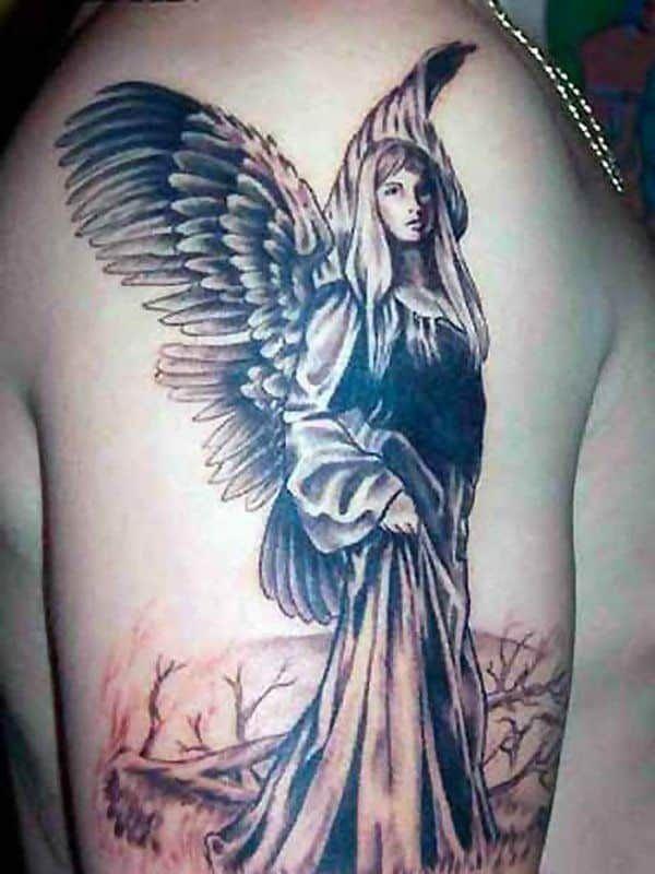 Angel Tattoos For Men Beautiful Angel Tattoos Angel Tattoo Designs Angel Tattoo Men