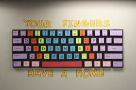 Teach the Bits and Bytes: Extra Large Keyboard Bulletin Board