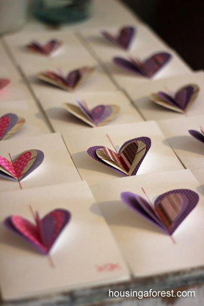 Sewn Valentines ~ Simple sewing skills required, but easiest enough for kids to do.
