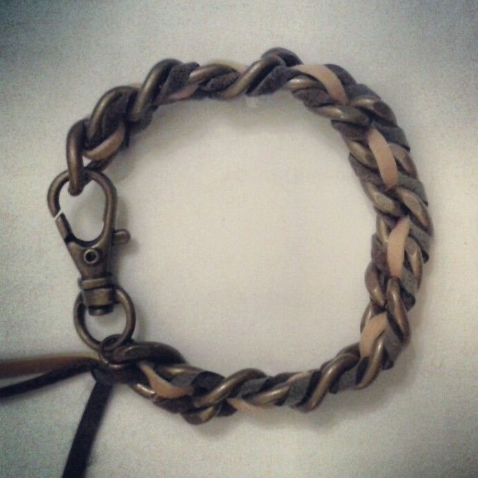 Tricolor bronze chain bracelet for male by www.pelopeshop.blogspot.com