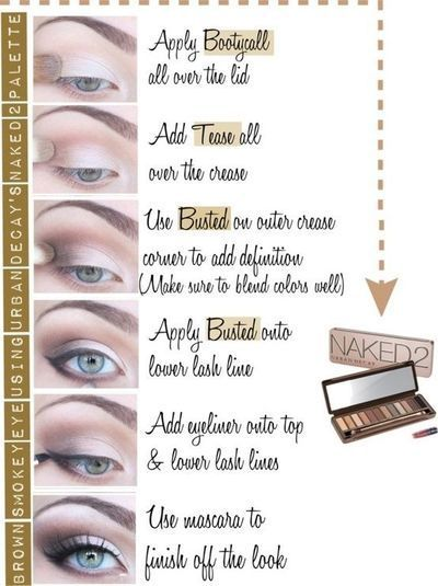 brown smokey eye with urban decay naked 2 palette.  Gorgeous! I love bronze and browns ESP for the blue eye ladies! Need a blue eyed person to try this on!!! :)