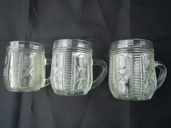 Kitchen cup glass. Vintage old ussr soviet 1980s. от VintageIhorUA