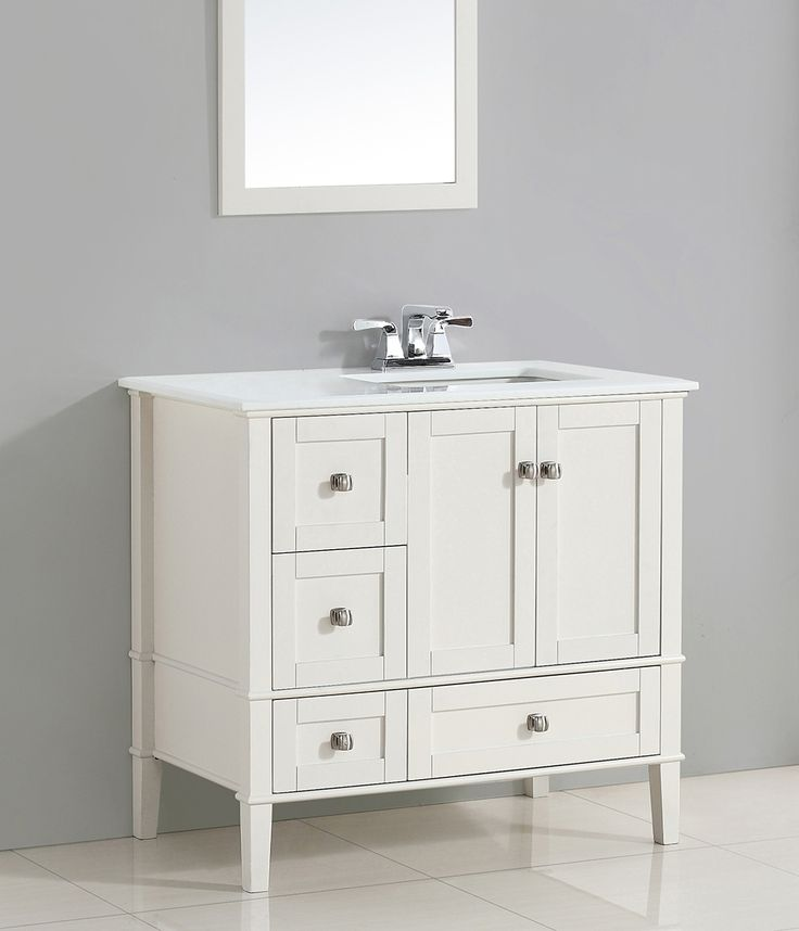 Website Picture Gallery  White Bathroom Vanity With Marble Top