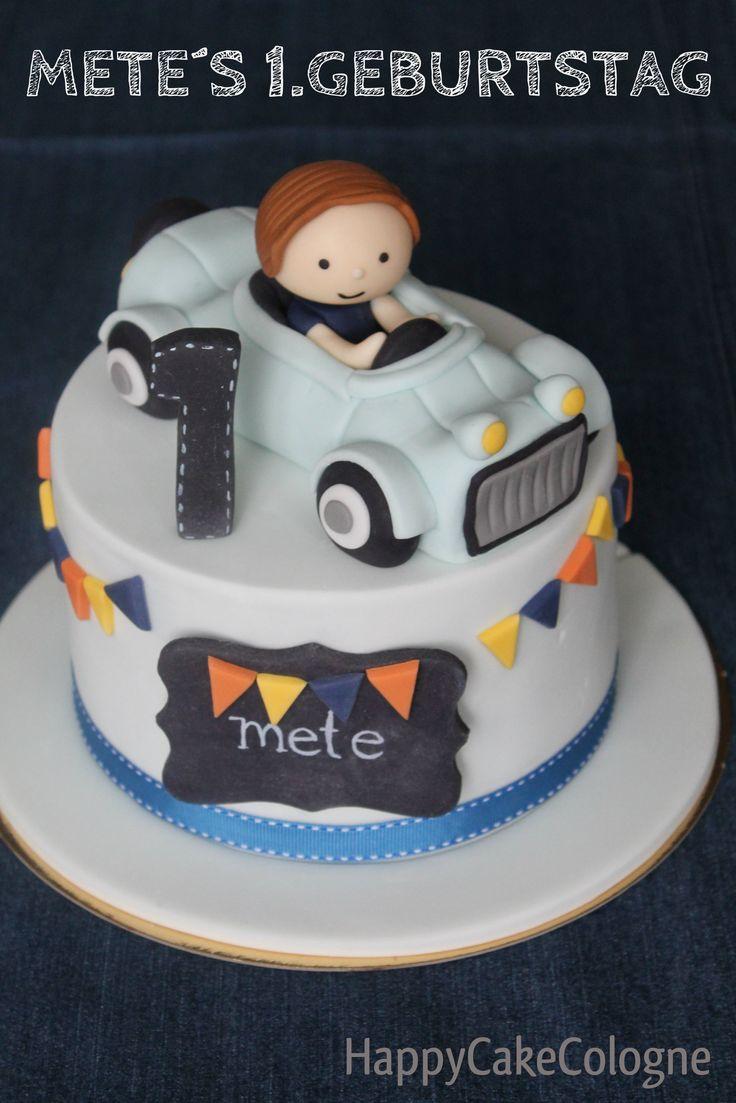 HappyCakeCologne  Little Boy Car Cake Chalkboard