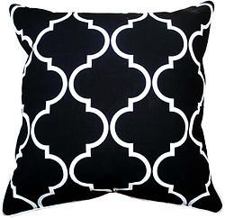 MOSCOW CUSHION IN BLACK