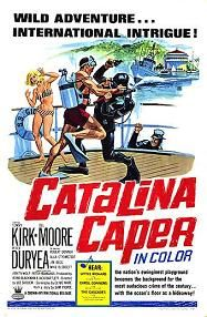 "Catalina Caper (1967) $19.99; aka: Never Steal Anything Wet; One of the last films of the ""Beach Party"" genre. It's swingin' beach babes in bikinis and great rock and roll! A valuable scroll is stolen from a museum, so some teens try to get it back from the crooks while playing on the beach. Songs by Little Richard, The Cascades, Mary Wells and Carol Connors (from the ""Teddy Bears""). Stars Tommy Kirk, Del Moore, Peter Duryea, Robert Donner, Ulla Stromstedt, Venita Wolf and Lyle Waggoner."