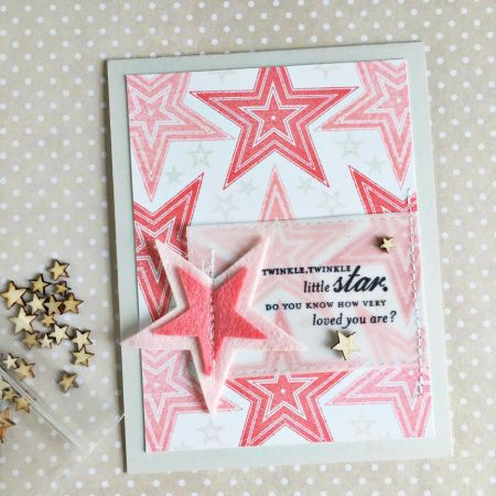 Super Stars Revisited: Twinkle, Twinkle Little Star Card by Heather Nichols for Papertrey Ink (July 2016)