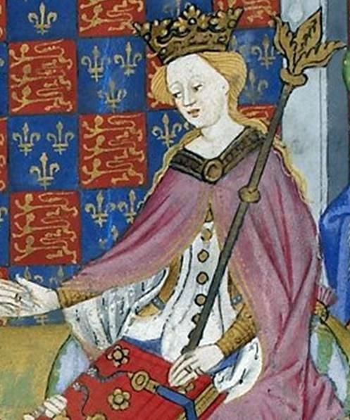 Margaret of Anjou (French: Marguerite d'Anjou) (23 March 1430 – 25 August 1482) was the wife of King Henry VI of England. As such, she was Queen consort of England from 1445 to 1461 and again from 1470 to 1471. She also claimed to be Queen consort of France from 1445 to 1453. Born in the Duchy of Lorraine, into the House of Valois-Anjou, Margaret was the second eldest daughter of René I of Naples and Isabella, Duchess of Lorraine.