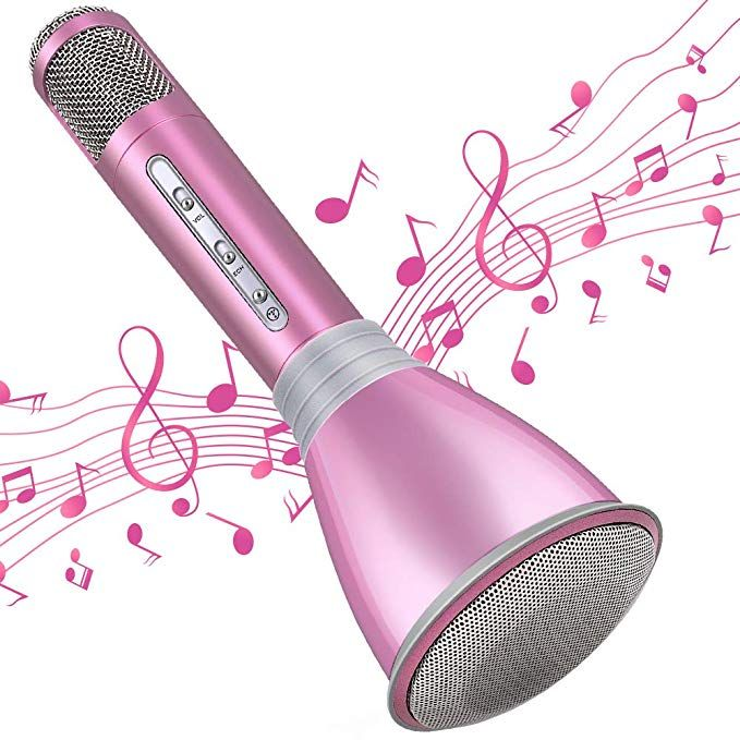 TOSING Wireless Karaoke Microphone for Kids Teenagers Family Adults,4 in 1 Portable Handheld Home Party Bluetooth Karaoke Speaker Machine,Top Birthday Gifts for Girls 2019,Best Present Toys for Kids