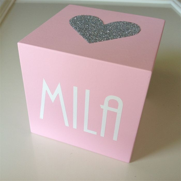 Heartfelt Fundraiser - 7cm Cube Wooden Name Block