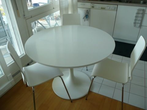 white ikea table on ikea white dining table and 4 chairs for sale in